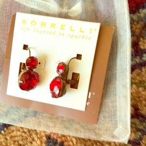 Sorrelli earrings, bright red, For pierced ears